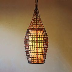 Hanging Rattan Pendant Lamp now featured on Fab.