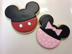 Mickey or Minnie Mouse Cookies 5 by DecoratedDesserts on Etsy, $34.00