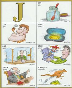 Learning Italian Language ~ Parole Inglesi Per Piccoli e Grandi - #Illustrated #dictionary - J1