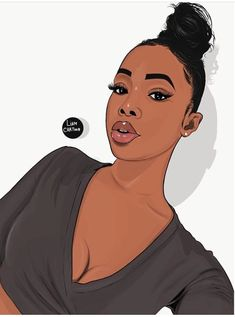 Discover recipes, home ideas, style inspiration and other ideas to try. Black Girl Cartoon, Dope Cartoon Art, Black Girl Art, Black Women Art, Black Girl Fashion, Black Girl Magic, Black Art Painting, Black Artwork, Drawings Of Black Girls