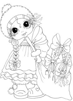 Cute Coloring Pages, Coloring Pages For Girls, Disney Coloring Pages, Christmas Coloring Pages, Coloring Pages To Print, Coloring Books, Besties, Big Eyes Artist, Line Art Images