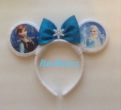 Disney's Frozen inspired Minnie Mouse ears headband.