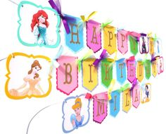 Items similar to Princess Happy Birthday Banner with Option to Add a Name & Age Lots of Glitter! Anna Elsa Cinderella Snow White Belle Ariel Aurora on Etsy Princess Party Decorations, Elsa Anna, Happy Birthday Banners, Etsy, Handmade Gifts, Birthday Banners, Hand Made, Kid Craft Gifts, Craft Gifts
