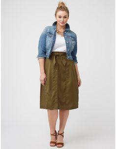 Plus size button front skirt by Lane Bryant | Lane Bryant