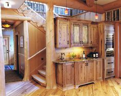 Stunning Camp Interior For Your Summer Holiday: Astonishing Classic Kitchen White Oak Flooring Adirondack Camp ~ wbtourism.com Home Interior...