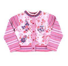 Souris Mini sweater, pink floral cardigan, cardigan for girls, pink sweater for girls