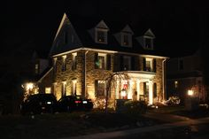 Another project that we did was add landscape lighting, makes any house a warm and inviting home.