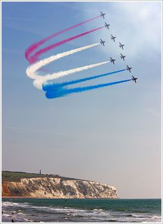 The Red Arrows, Sandown, Isle of Wight, England, UK