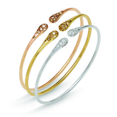 Bracelet in 18 kt rose/Yellow/White gold with diamonds #jewelry #gold