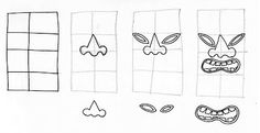 How to draw a tiki head. Very clear instructions and design inspiration.