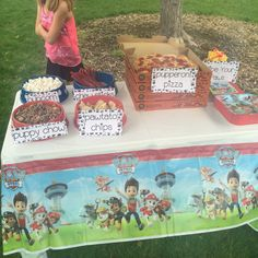 paw patrol birthday party  ideas with printables and nutella puppy chow recipe
