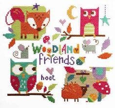 Woodland Friends - Cross Stitch Kit