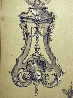 French Ornament Drawings 18 by Surface Fragments 2, via Flickr