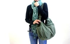 cd3b1969e898 SALE - Anna in smoke green    messenger   shoulder bag   diaper bag    School bag   Purse   tote bag   women   For her