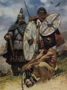 Roman Emperor Trajans war with the Dacians - art by Angus McBride