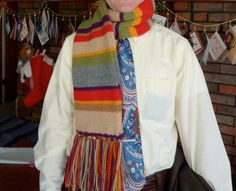 Doctor Who Scarf, for the business man fan boy by K of craftylilthing.