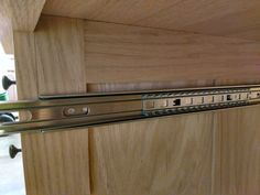 Install Full Extension Drawer Slides - Easy DIY - The Definitive Guide Miter Saw Table, Truck Bed Camper, Dresser Drawers, Wood Working, Fun Projects, Man Cave, Extensions, Cabinets, Kitchen Design