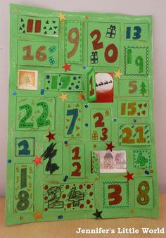 Easy homemade lift-the-flap Advent Calendar to make with kids Make An Advent Calendar, Homemade Advent Calendars, Advent Calendars For Kids, Craft Activities For Kids, Crafts For Kids, Preschool Ideas, Christmas Holidays, Christmas Cards, Kindergarten Art