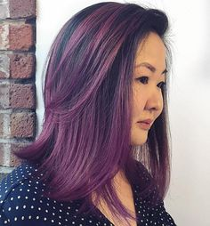 Black+Hair+With+Purple+Balayage