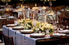 Mesas decoradas para casamento no campo. - Home - My Happy Day • Inspiração e planejamento para casamentos e eventos em geral