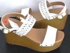 c700bc1bfc315f Tommy Hilfiger Wedge Rubena2 White Sandals Womens size 9.5M  TommyHilfiger   PlatformsWedges  Casual
