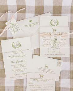 Equestrian inspired wedding invitations by Aerialist Press. Featured on Grey Likes Weddings: Kate & Brian Event Design/Planning: Kaella Lynn Events Photography: Edyta Szyszlo Flowers: Huckleberry Karen Designs Venue: Thomas Fogarty Winery Catering: Culinary Eye