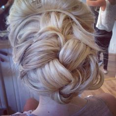 Bridal hair ... Intertwined plaited hair