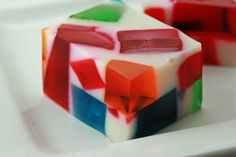 Broken Glass Jello      Ever since I made the 5-layer Jello  for Valentine's Day, I've been craving Jello. Recently, my friend gave me gr...