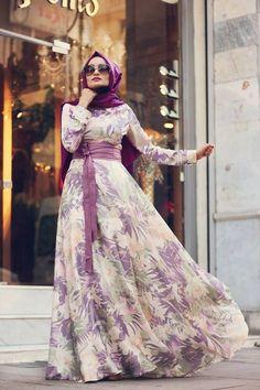 Modest Lavender Maxi Dress