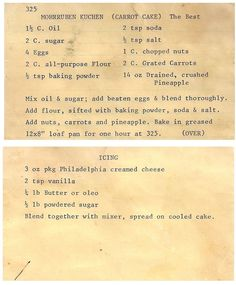 Betty Crocker Old Fashioned Fruit Cake Recipe. Pin On Desserts. Wartime Carrot Cake Recipes In 2019 Dessert Recipes . Retro Recipes, Old Recipes, Vintage Recipes, Cookbook Recipes, Baking Recipes, Cake Recipes, Dessert Recipes, Recipies, Blender Recipes