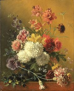 Georgius Jacobus Johannes van Os, Still Life with Flowers, 1861