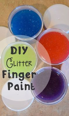 DIY Homemade Glitter Finger Paint - Fun craft for birthday parties, play dates or a rainy day activity - Mommy Scene Fun Crafts, Crafts For Kids, Holiday Crafts, Paper Crafts, Projects For Kids, Diy Projects, Glitter Crafts, Glitter Gel, Diy Wall Shelves