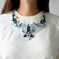 DIY SHOUROUK INSPIRED PVC & RHINESTONE NECKLACE This is a hoot and so clever!!!