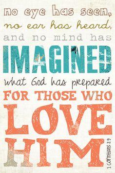 Scripture Art Bible Verse Art. Corinthians 2:9