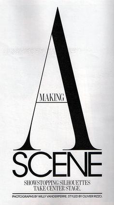 Typography. W Magazine