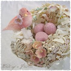 petite spring nest ~ dreamy pink