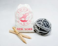 DIY Kit - New Yorker Scarf available on loopymango.com