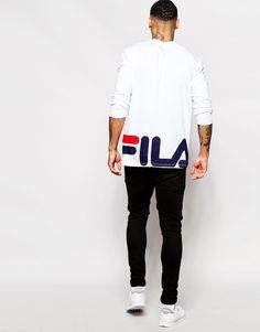 582eacfea02c Fila Black Long Sleeve T-Shirt With Back Print. Fila VintageFashion Shoes Mens ...