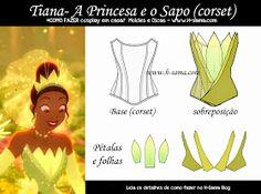 (The Princess and the Frog) Princess Tiana Costume, Disney Princess Dresses, Disney Dresses, Tangled Princess, Princess Merida, Anime Costumes, Disney Costumes, Cosplay Costumes, Tutorial Cosplay