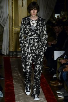 Roberto Cavalli Fall 2016 pajama party..please only wear this if you are a rockstar or model