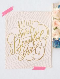 Oh So Beautiful Paper: Baby Emily's Whimsical Typography Birth Announcements