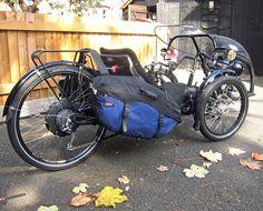 "UNIQUE ICE Sprint Electric Custom Recumbent Trike NeoDrive 26"" Touring Tricycle   eBay"