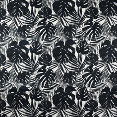 F2792 Shadow Greenhouse Fabrics, Elegant Living Room, Modern Spaces, Blue Tones, Coastal Style, Beach House Decor, Black Fabric, Bold Colors, Plant Leaves