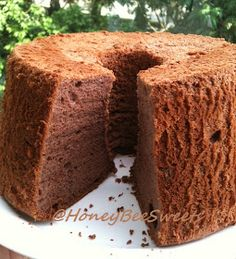CHOCOLATE BANANA CHIFFON CAKE