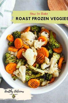 How to roast frozen vegetables via @HealthyDelish Roasting Frozen Vegetables, Original Recipe, Healthy, Recipes, Recipies, Ripped Recipes, Recipe, Cooking Recipes