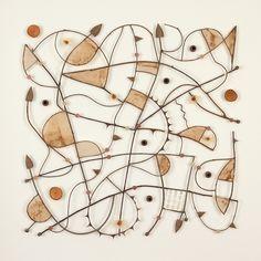 James Blackwell - 'Native Grid 0911.1' Paper, tea bags, gum nuts, gum leaves, bunyah leaves