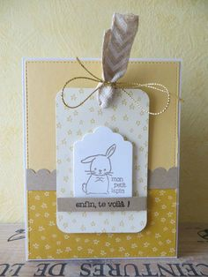 Carte de Karilou: 10-04-2016 Diy And Crafts, Paper Crafts, New Baby Cards, Butterfly Cards, Stamping Up, Kids Cards, Stampin Up Cards, Mini Albums, I Card
