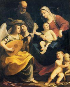 Guido Reni. Sagrada Familia, 1642. Óleo sobre lienzo. Galería Porczynski. WikiPaintings.org