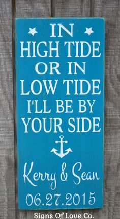 nautical anchor beach décor wedding sign personalized gift wife shower gift wooden plaque husband carova crafts anniversary Christmas teal turquoise emerald