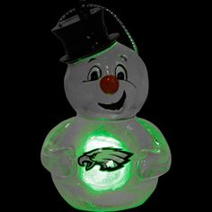 Light up your tree! #Eagles Light-Up Snowman Ornament. $7.99